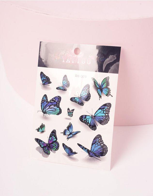 Тату тимчасове з малюнком метеликів | 243387-21-XX - A-SHOP
