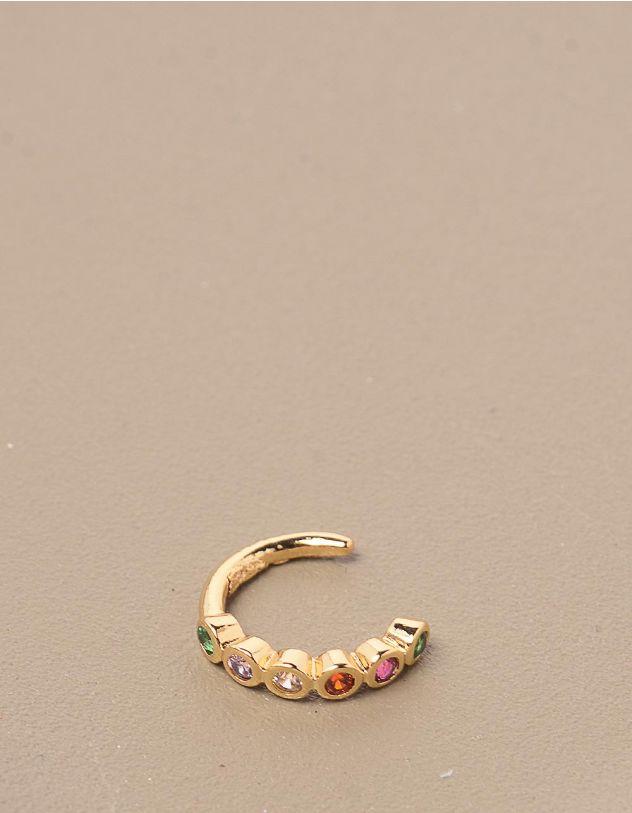 Сережка обманка з камінцями | 245327-21-XX - A-SHOP