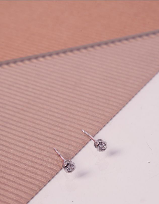 Сережки гвіздочки зі стразами | 224042-06-XX - A-SHOP