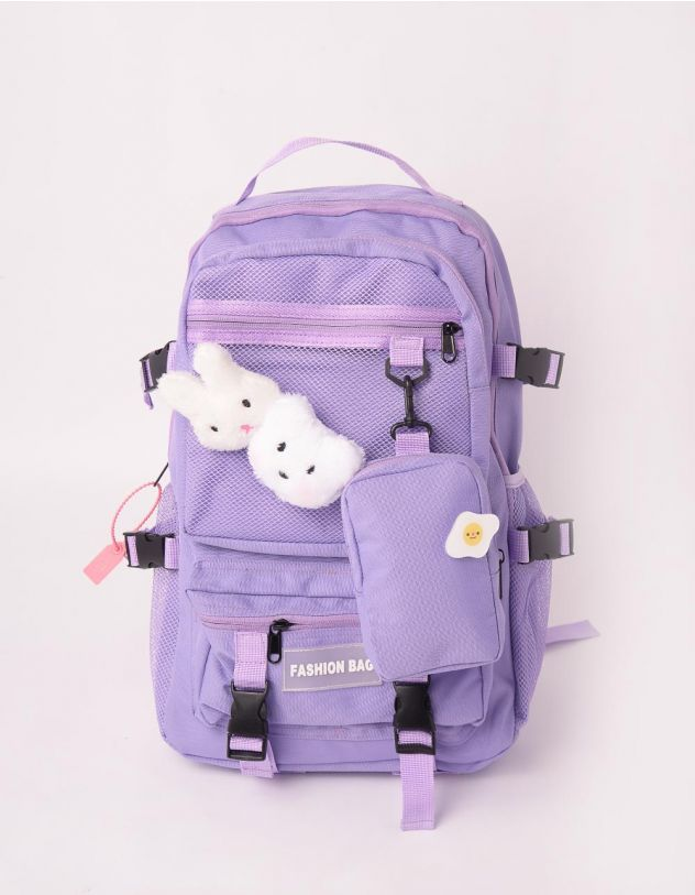 Рюкзак для міста з хутряними звірятками та монетницею | 245719-03-XX - A-SHOP