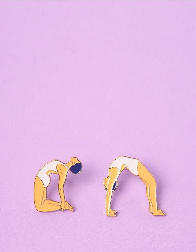 Сережки у вигляді дівчини що займається гімнастикою | 246280-22-XX - A-SHOP