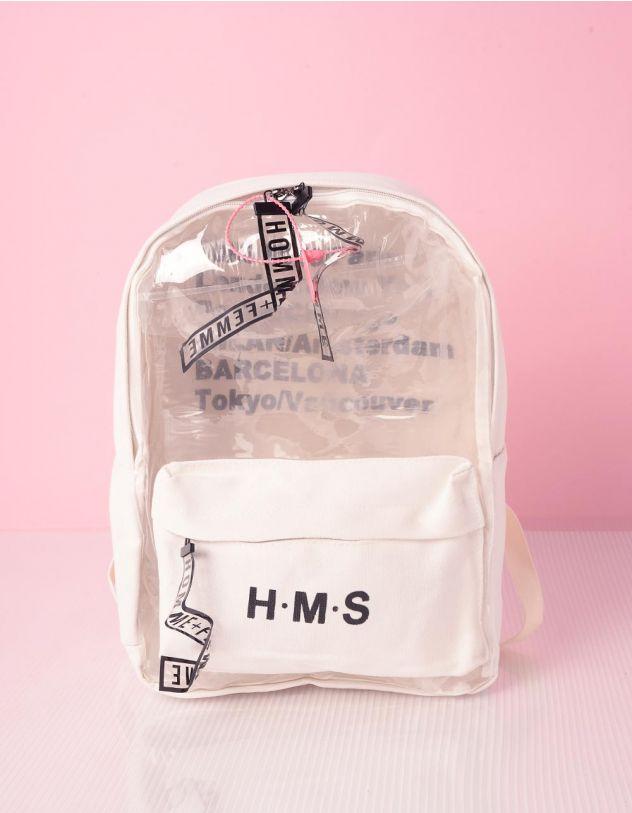 Рюкзак для міста з написом напівпрозорий | 239342-01-XX