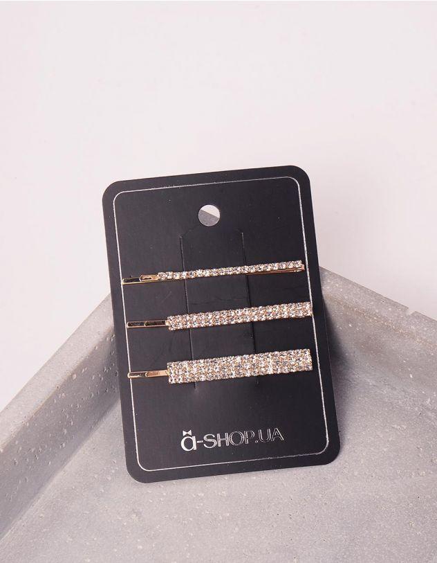 Шпилька для волосся у наборі декорована стразами | 245953-08-XX - A-SHOP