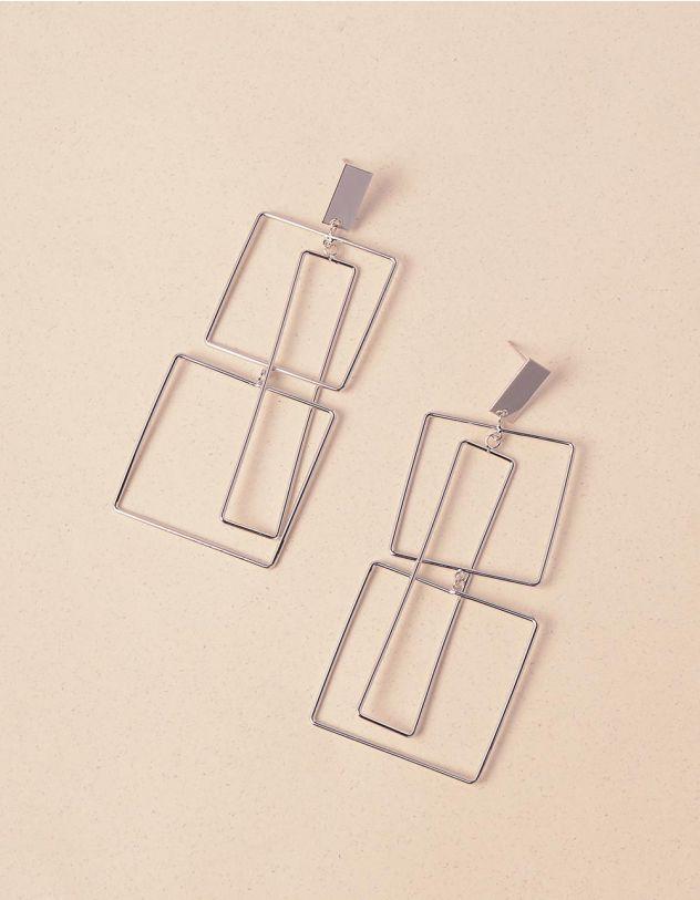 Сережки довгі у вигляді геометричних фігур   240416-05-XX - A-SHOP