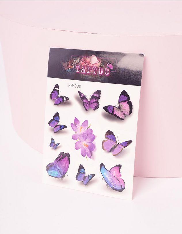 Татуювання тимчасове з принтом метеликів   243386-21-XX - A-SHOP