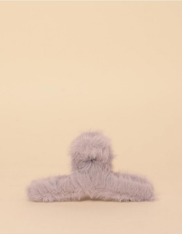 Шпилька для волосся крабік хутряна | 246549-11-XX - A-SHOP