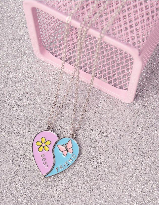 Підвіска на шию best friends  з кулоном у вигляді серця | 246502-21-XX - A-SHOP