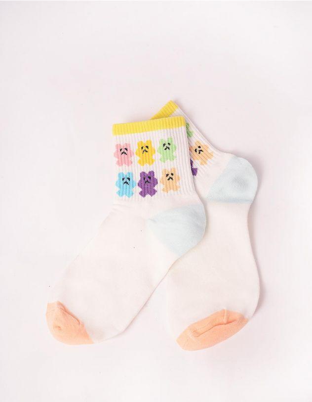 Шкарпетки з принтом ведмедика | 246267-01-XX - A-SHOP