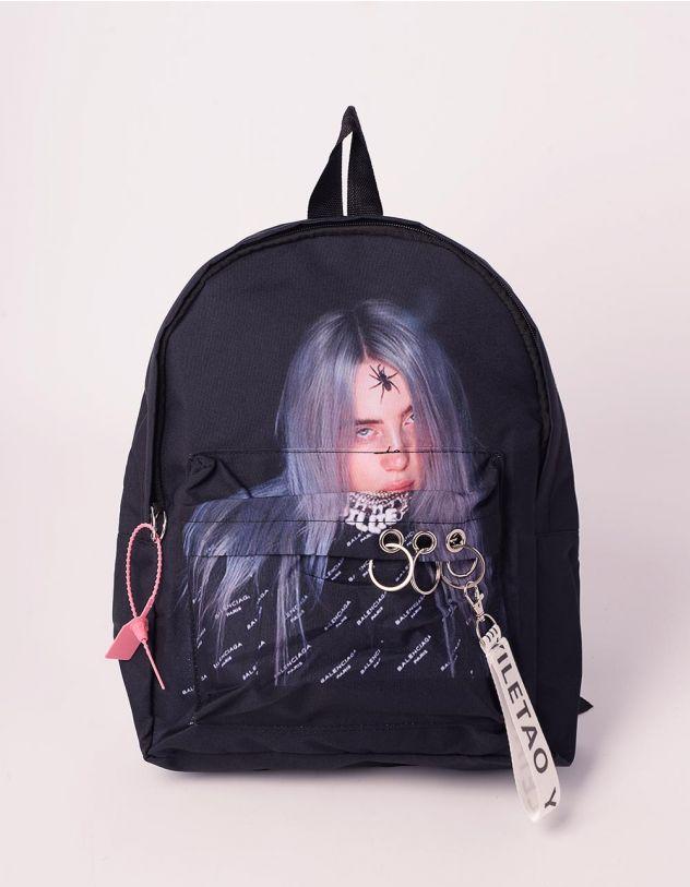 Рюкзак молодіжний з принтом BILLIE EILISH | 240620-02-XX