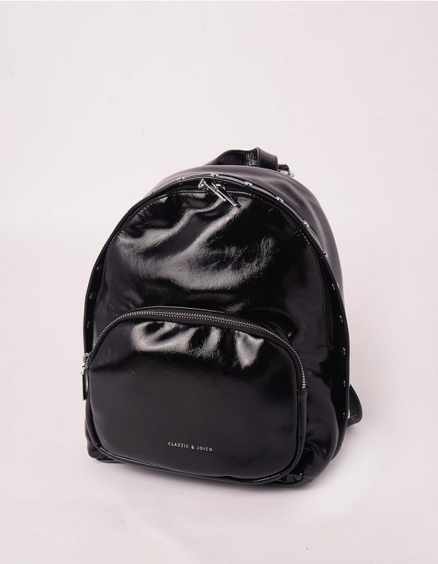 Рюкзак декорований кльопками з кишенею на блискавці | 245750-02-XX - A-SHOP