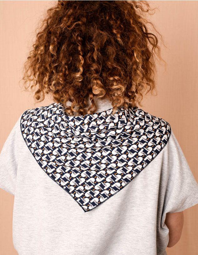 Хустка на шию з принтом чайки | 240637-30-XX - A-SHOP