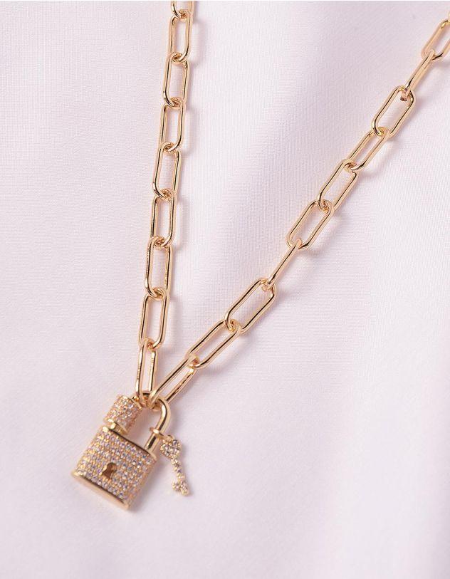 Підвіска на шию із ланцюжка з кулоном у вигляді замка | 247359-08-XX - A-SHOP