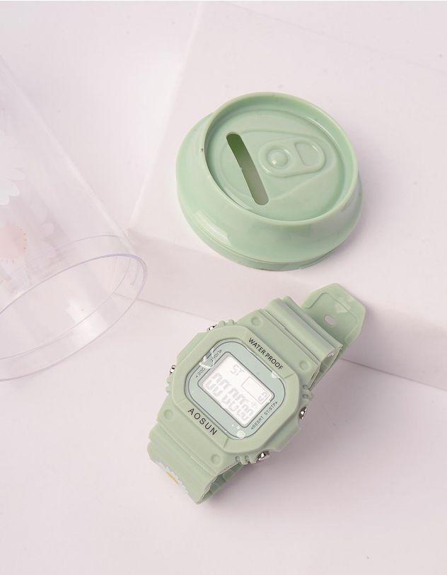 Годинник з коробкою скарбничкою з принтом ромашки | 243681-20-XX - A-SHOP