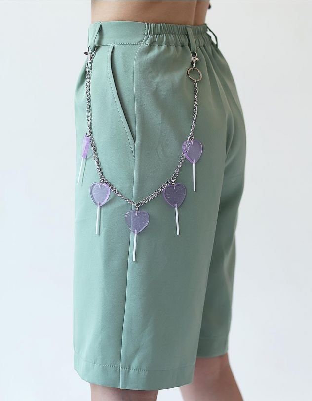 Ланцюжок на одяг з серцями | 247705-03-XX - A-SHOP