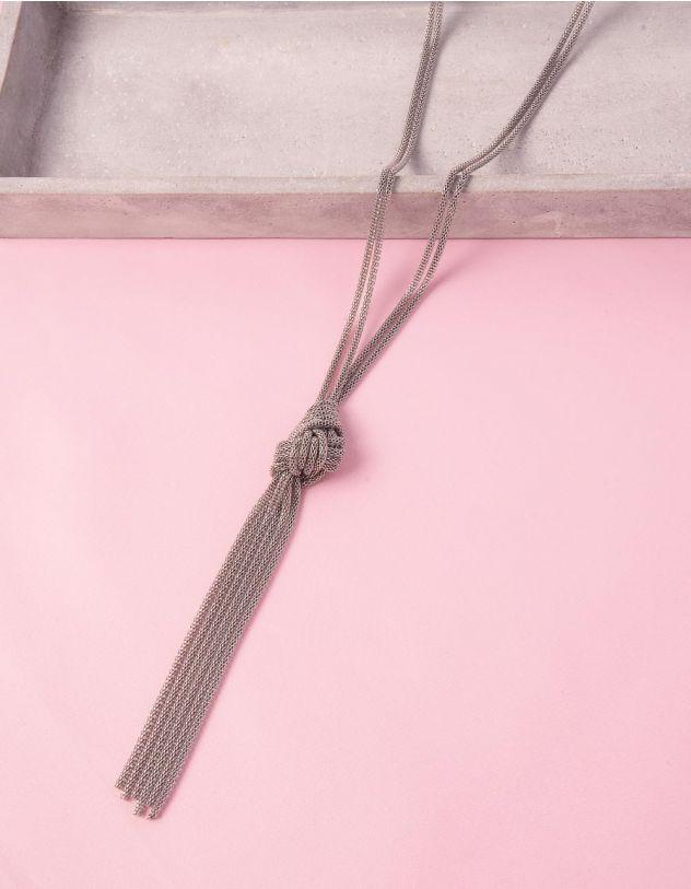 Підвіска на шию довга із ланцюжків з вузлом | 248656-05-XX - A-SHOP