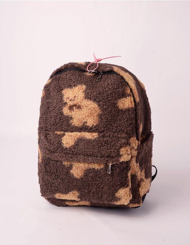 Рюкзак хутряний із зображенням ведмедиків | 246023-12-XX - A-SHOP