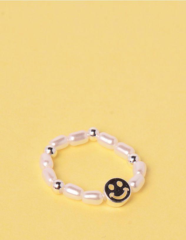 Кільце із перлин зі смайликом | 249329-06-XX - A-SHOP