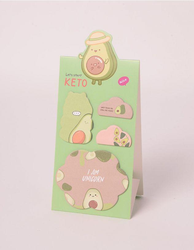 Стікери з принтом авокадо | 247850-20-XX - A-SHOP