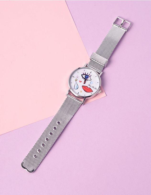 Годинник на руку з малюнком обличчя та помади | 235320-05-XX - A-SHOP