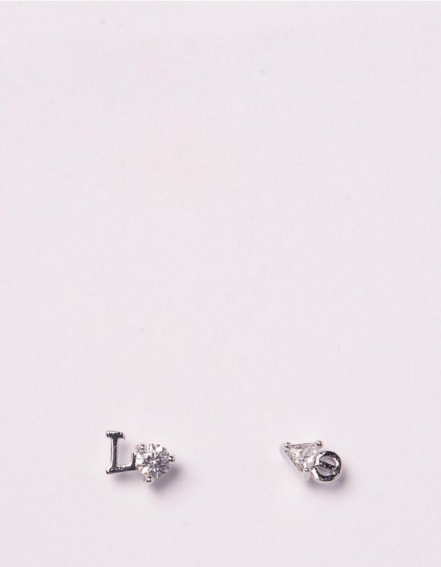 Сережки пусети з написом love | 244998-06-XX - A-SHOP