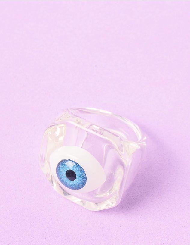 Кільце на руку прозоре широке з принтом ока | 248697-01-36 - A-SHOP
