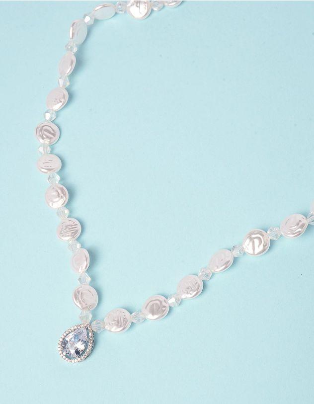 Підвіска із перлин з кристалом у кулоні   249738-06-XX - A-SHOP