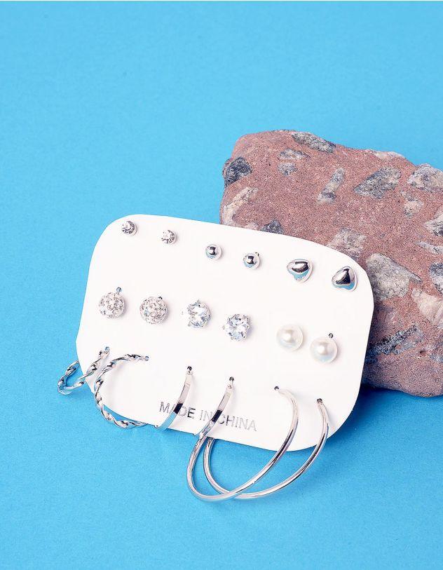 Сережки пусети та кільця у наборі | 237105-05-XX - A-SHOP