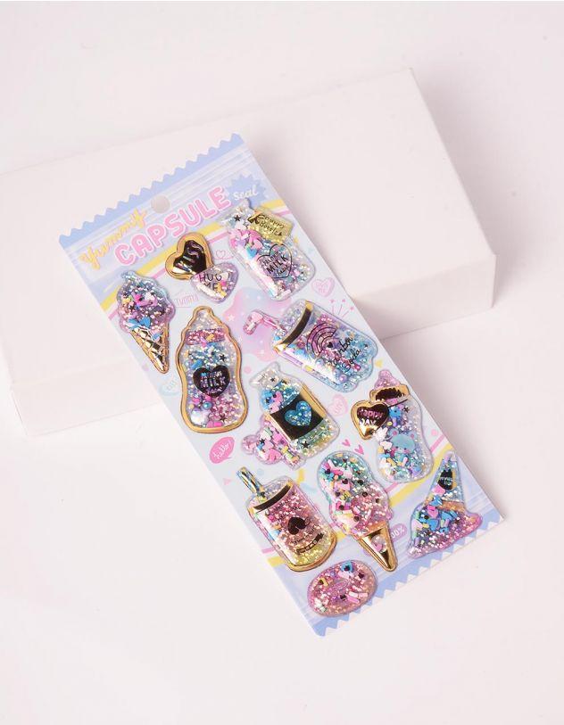 Стікери з блискітками із зображенням солодощів | 247458-31-XX - A-SHOP