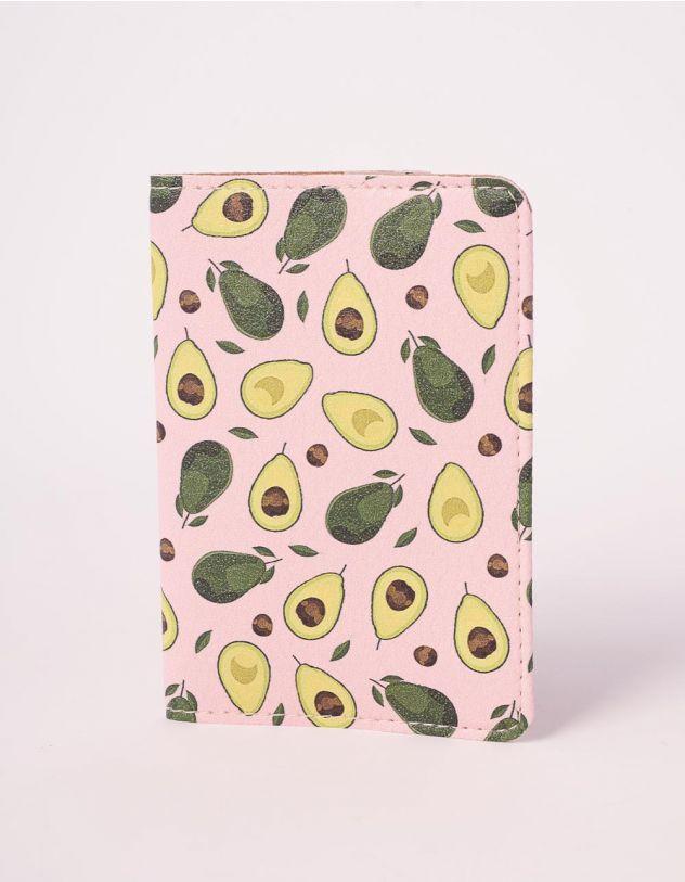 Обкладинка на паспорт з принтом авокадо | 241047-21-XX