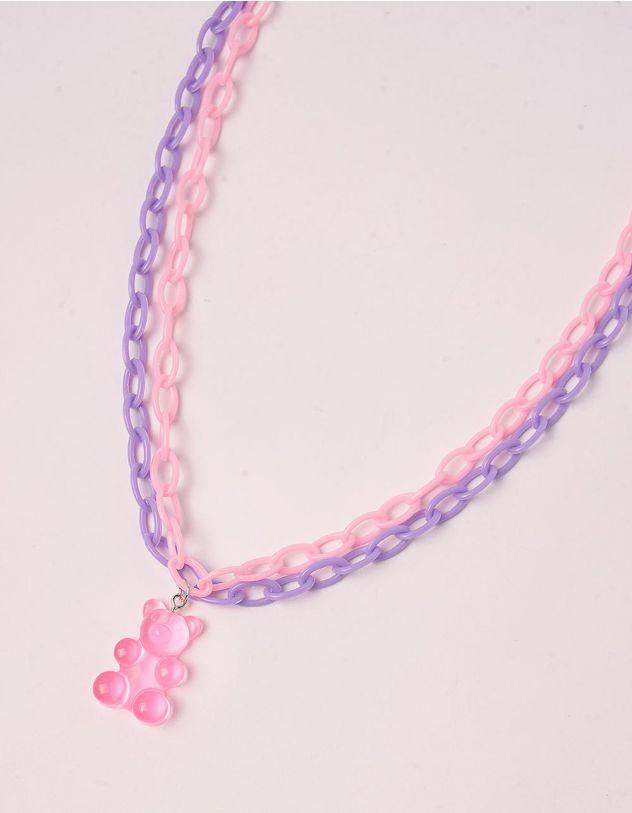 Підвіска на шию із ланцюжків з кулоном у вигляді ведмедика | 244161-14-XX - A-SHOP