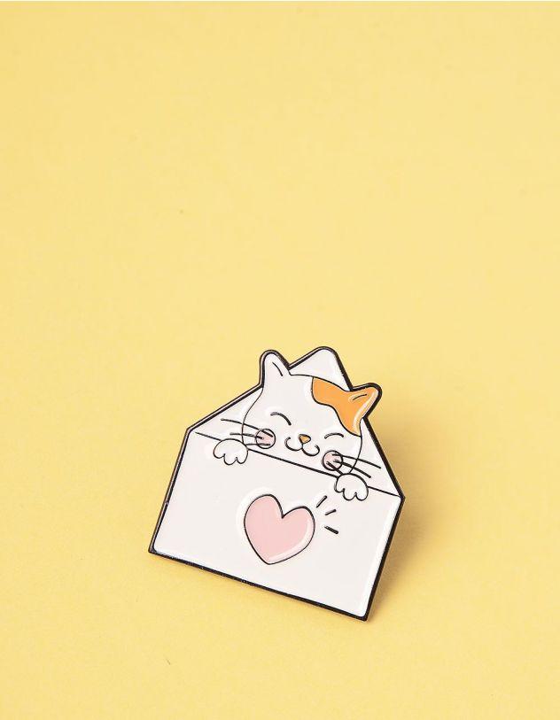 Брошка у вигляді кицьки у конверті | 245705-01-XX - A-SHOP