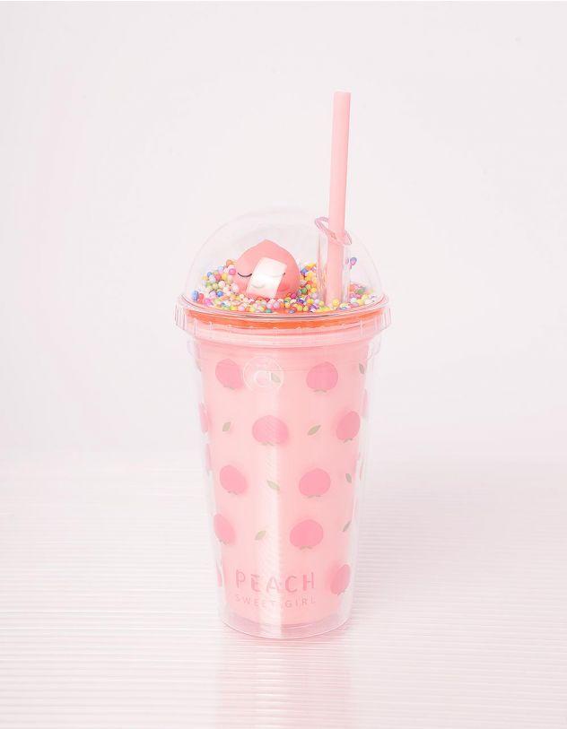 Склянка на 450мл з принтом персиків | 242420-21-XX - A-SHOP