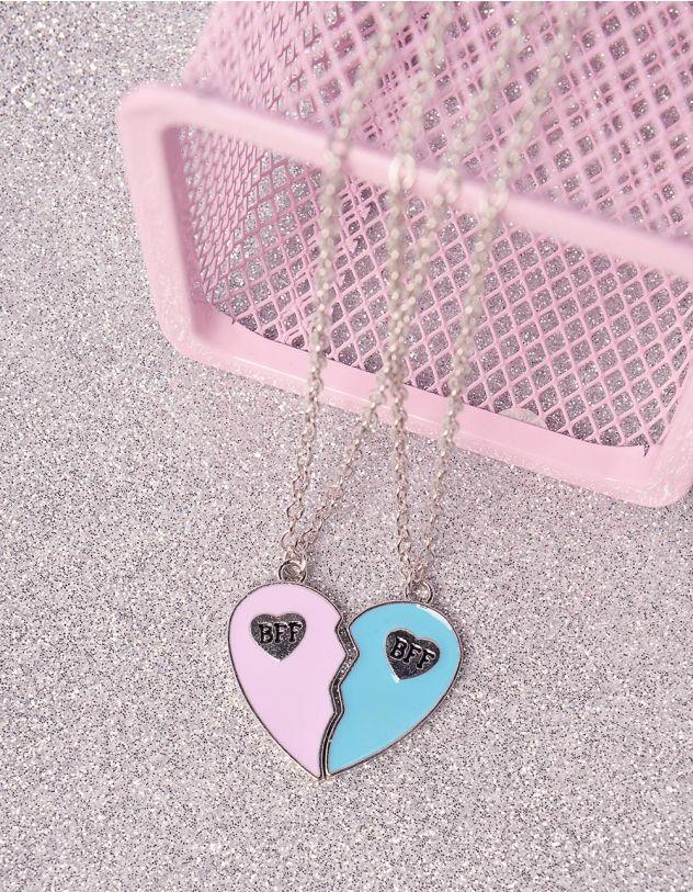 Підвіска на шию best friends  з кулоном у вигляді серця   246501-21-XX - A-SHOP