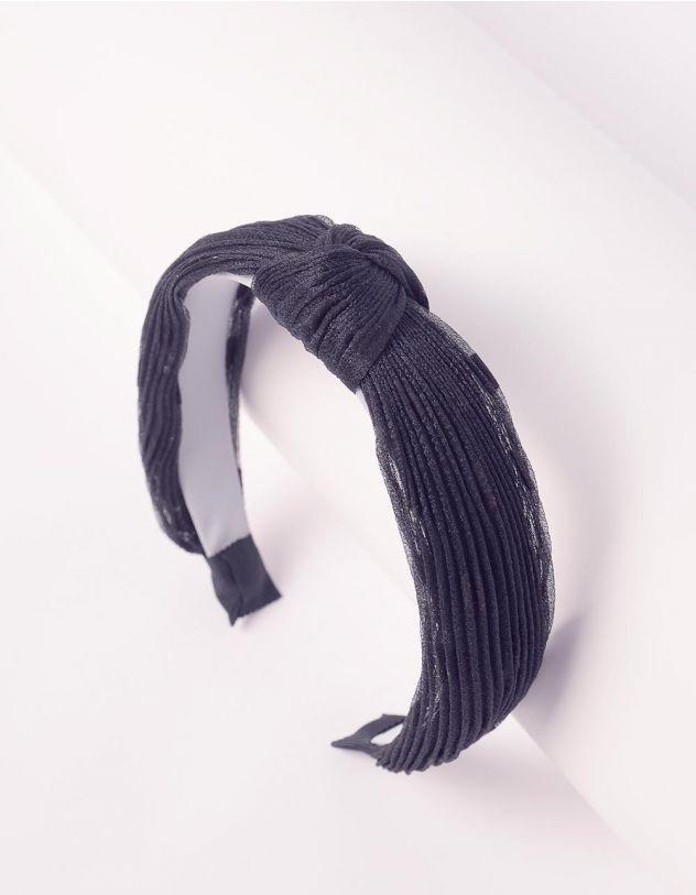 Обідок для волосся у горошок із гофрованої тканини | 243799-02-XX - A-SHOP