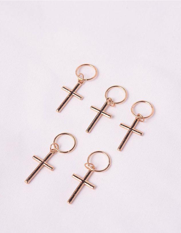 Кільця для волосся у наборі з хрестами | 245921-04-XX - A-SHOP