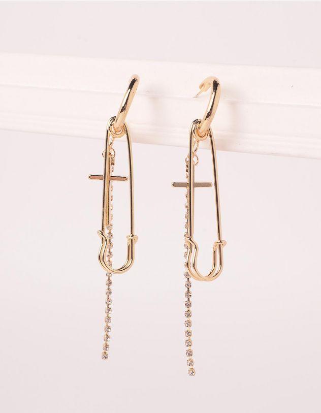 Сережки подовжені з хрестами та булавками   245632-08-XX - A-SHOP
