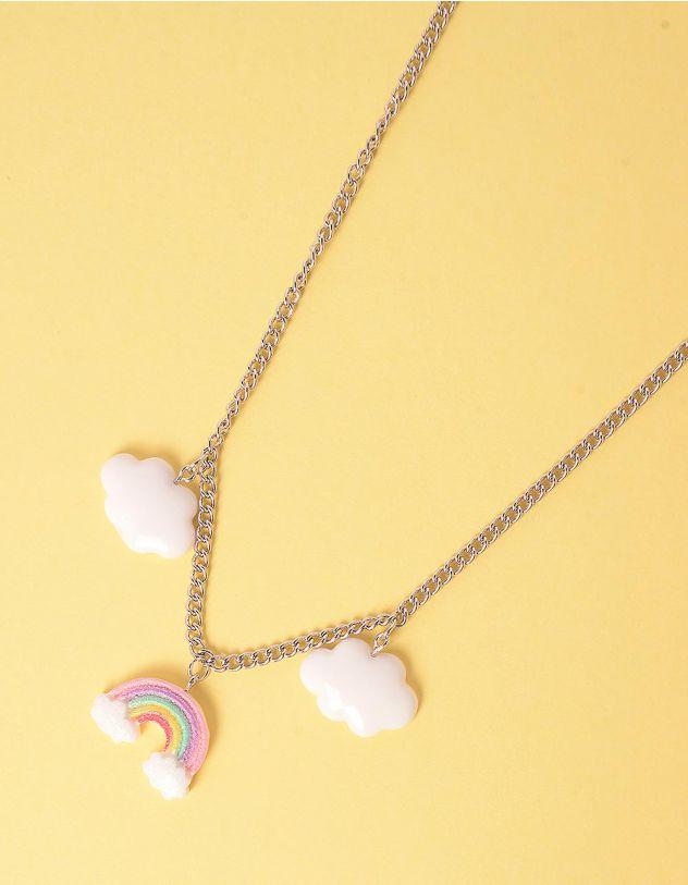 Підвіска на шию з кулонами у вигляді хмаринок та веселки | 247720-05-XX - A-SHOP