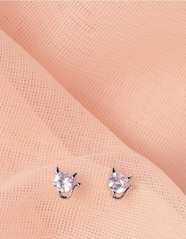 Сережки пусети у вигляді чортенят | 244621-06-XX - A-SHOP
