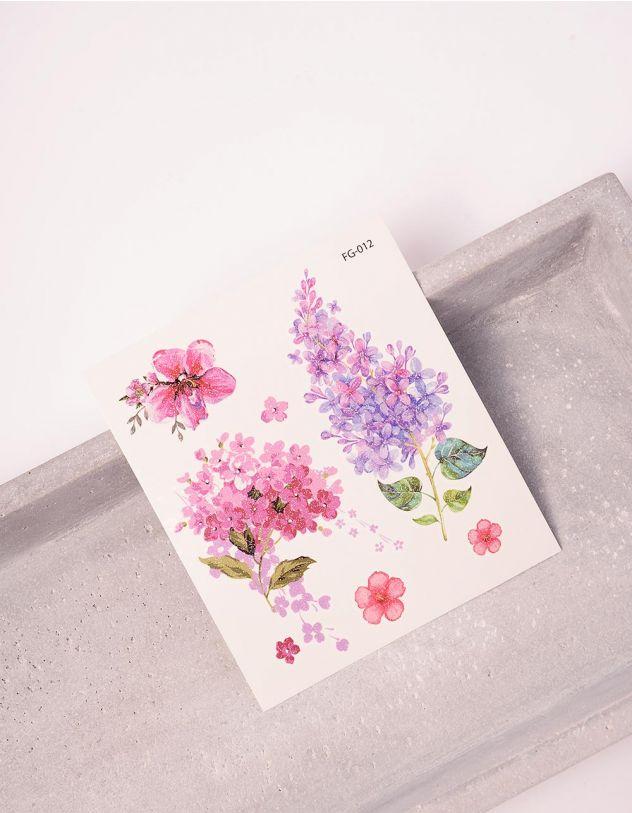 Тату тимчасове з принтом квітів | 243408-21-XX - A-SHOP