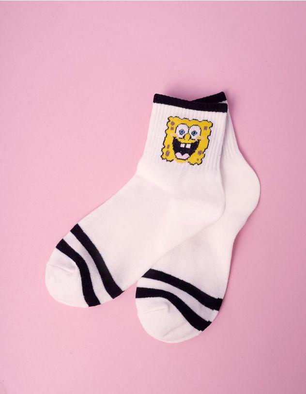 Шкарпетки з принтом спанч боба | 241084-02-XX - A-SHOP