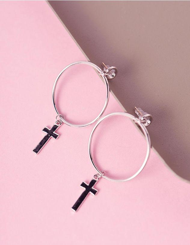 Сережки кільця з хрестами | 241363-05-XX - A-SHOP