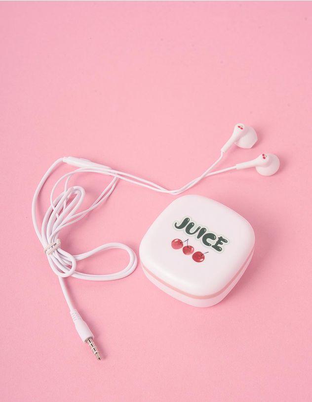 Навушники з принтом вишні на чохлі   248165-01-XX - A-SHOP