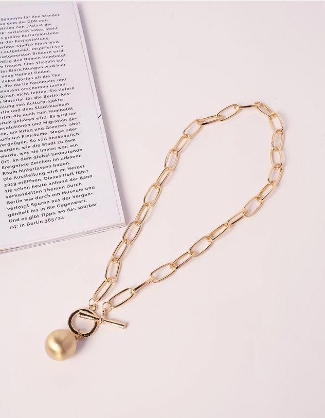 Підвіска на шию у вигляді ланцюга з перлиною | 240265-04-XX - A-SHOP
