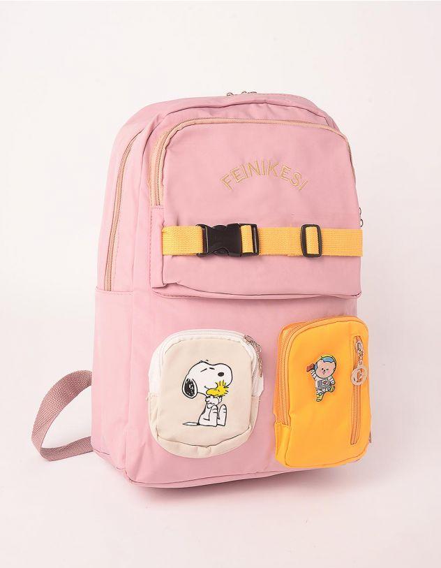 Рюкзак для міста  з кишенями та принтом песика | 248253-14-XX - A-SHOP