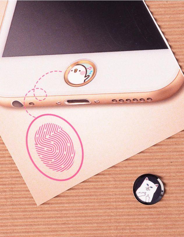 Наліпка на телефон на кнопку  HOME з принтом кота факера   239886-02-XX - A-SHOP