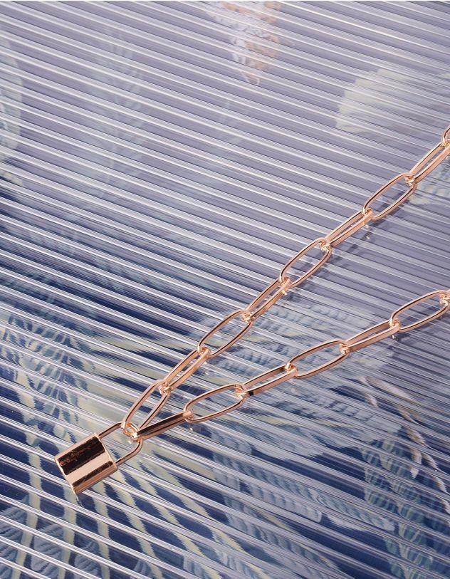 Підвіска на шию із ланцюга з кулоном у вигляді замка | 239428-04-XX - A-SHOP