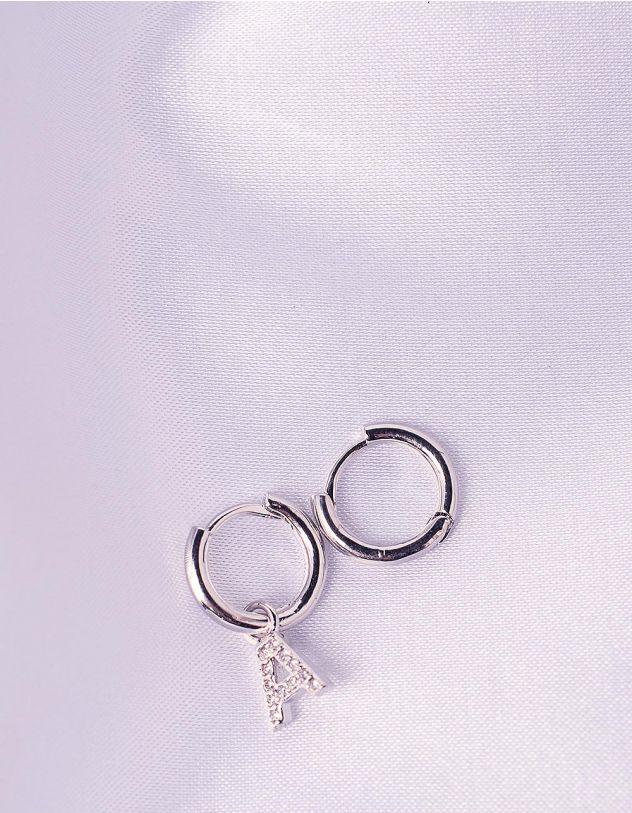 Сережки з літерою  А   243968-06-XX - A-SHOP