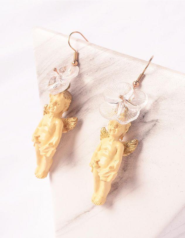 Сережки у вигляді янголів з квітами | 249089-22-XX - A-SHOP