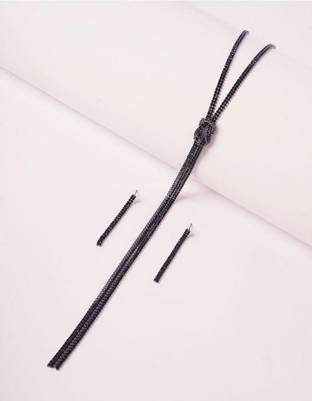 Комплект із підвіски та сережок з камінцями | 240191-02-XX - A-SHOP