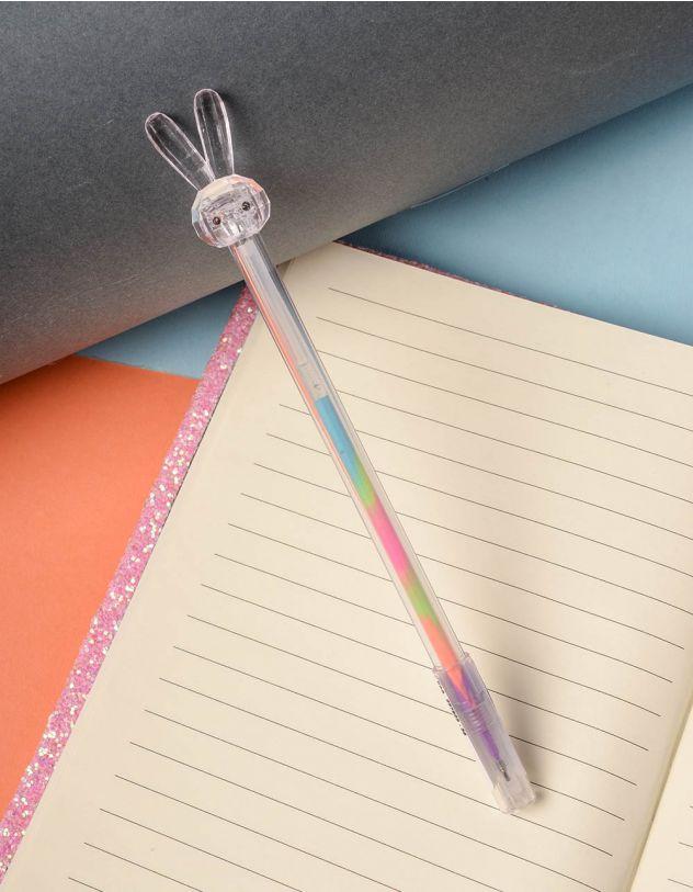 Ручка з кольоровою пастою та зайчиком на кінці | 237823-35-XX